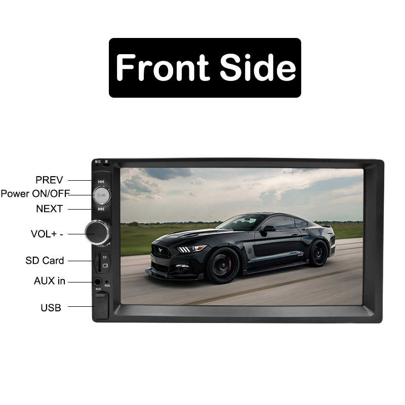 "2 Din Autoradio Autoradio 7 ""Hd Multimedia Speler Touch Screen Auto Audio Auto Stereo MP5 Bluetooth Usb Tf fm Camera Dubbel Din"