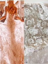 5 yards Floral Embroidered Lace Fabric for Bridal Gown Wedding Dress Evening Dress 51'' width floral embroidered lace panel slip dress