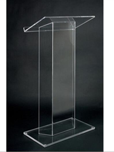 Mobilya'ten Resepsiyon Masaları'de Akrilik taşınabilir masaüstü kürsü özel Perspex kilise podyum/minber pleksiglas title=