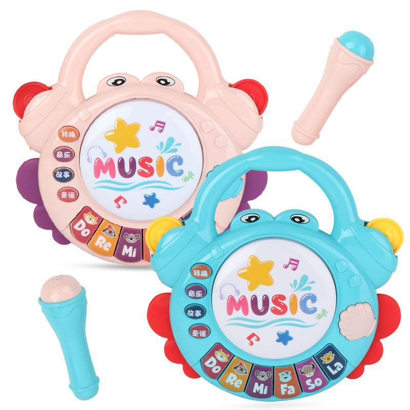 New Crab Fun Pat Drum Music Piano Child Simulation Cartoon Puzzle Early Education Light Story Electronic Keyboard