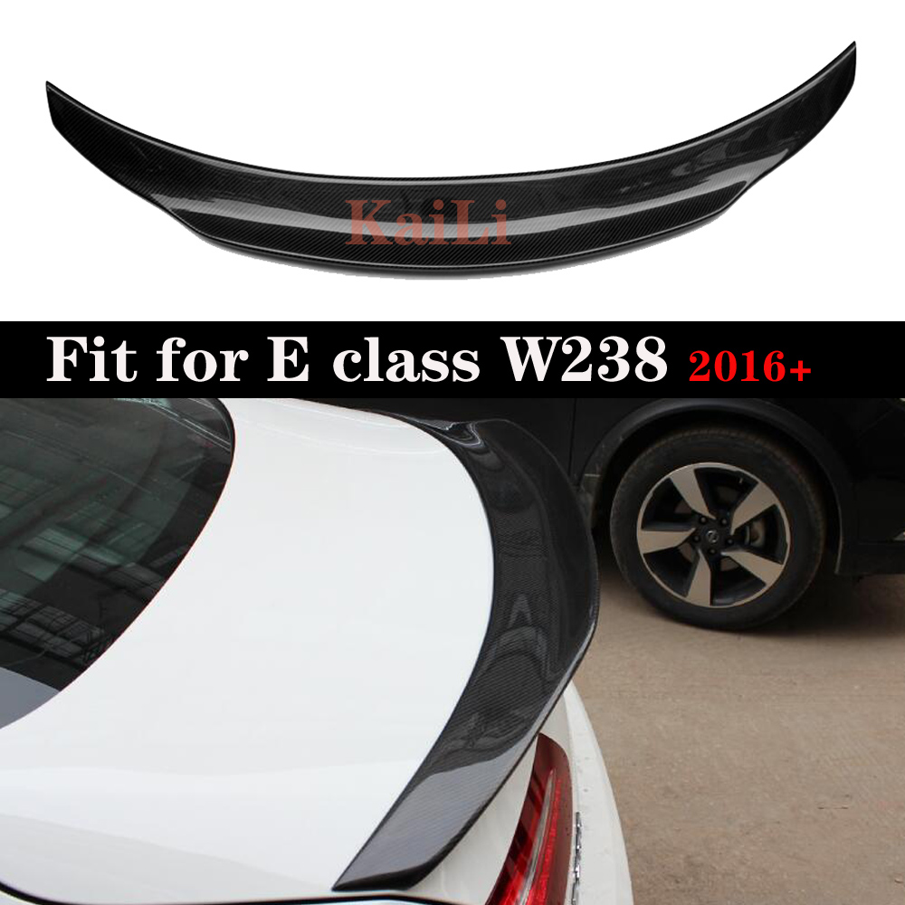 Rear <font><b>Spoiler</b></font> Trunk Wing Carbon Fiber Material For Mercedes E Class W238 <font><b>C238</b></font> Coupe 2016 + image