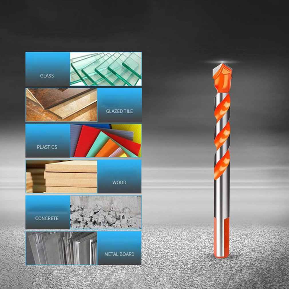 Broca de cerámica multifuncional abridor de orificios de vidrio de azulejo herramienta de perforación de pared mango superior brocas de aleación