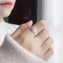 Женское кольцо из серебра 925 пробы с геометрическим узором