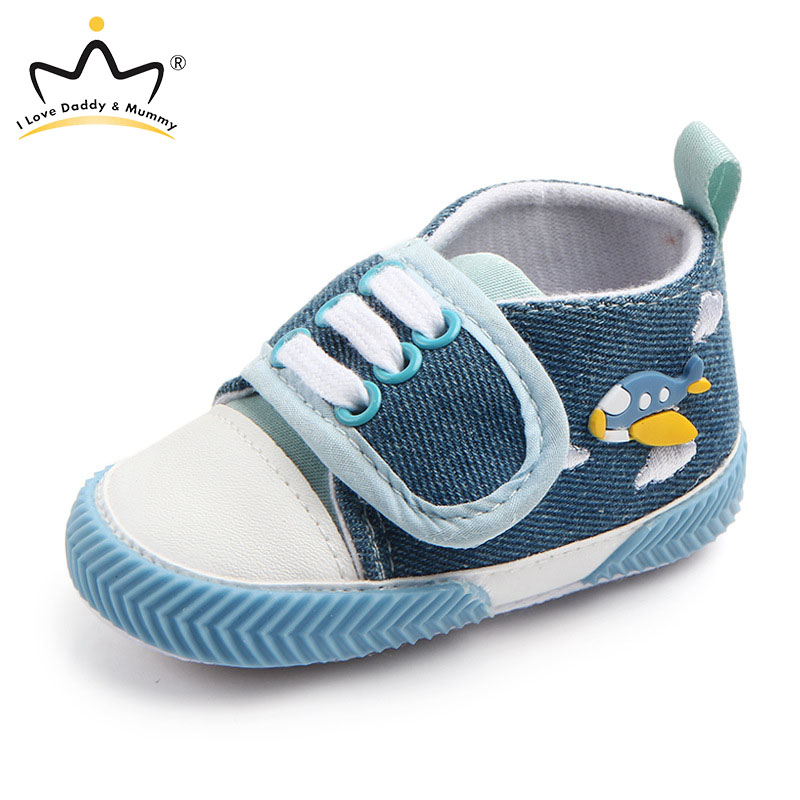 New Baby Shoes Canvas Sneakers Cute Fish Shark Print Baby Boy Girl Shoes Soft Cotton Sole Non-slip Newborn Toddler First Walkers