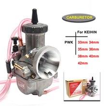 مكربن دراجة نارية عالمي ، جهاز عالمي PWK 33 34 35 36 38 40 42 مللي متر 2T 4T لـ Keihin Mikuni ، مع Power Jet 200-450cc
