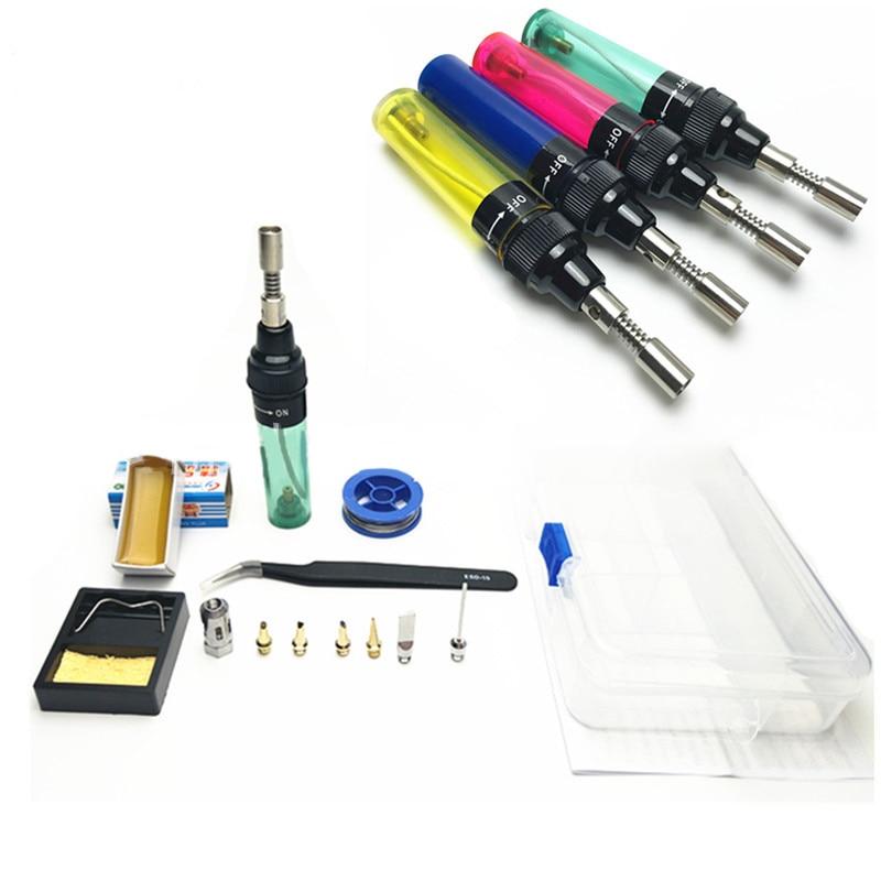 1300 Celsius Butane Gas Welding Soldering Irons Welding Pen Burner Blow  Gas Soldering Iron Cordless Butane Tip Tool