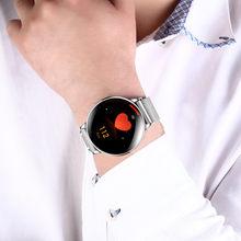 Affaires ultra-mince complètement rond tactile étanche mesure fréquence cardiaque pression artérielle intelligent mouvement bracelet montres