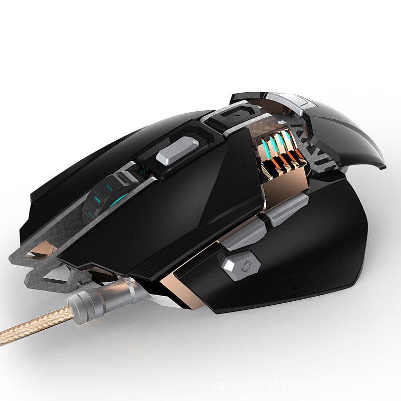 KCPDS Gaming Mouse Ergonomic Wired Mouse 7-Key LED 3200 DPI Optical Macro Programmable USB Computer Mouse Wired Gaming Mouse Wit
