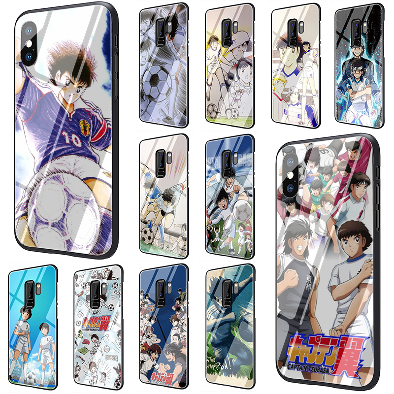 Captain Tsubasa Tempered Glass Phone Case for Samsung S7 Edge S8 S9 S10 Note 8 9 10 plus A10 20 30 <font><b>40</b></font> <font><b>50</b></font> <font><b>60</b></font> 70 image