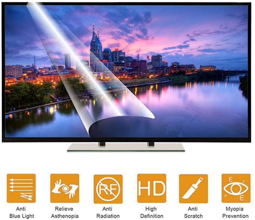 For Onida LEO43FAIN 43 inch TV display protector Blue Light TV Screen Protector, Anti Blue Light & Glare Filter Film