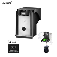DMYON Black Refillable Ink Cartridge Replacement for HP 301XL Officejet 2620 2621 2622 2624 4635 4636 4639 5532 5534 5535 5539