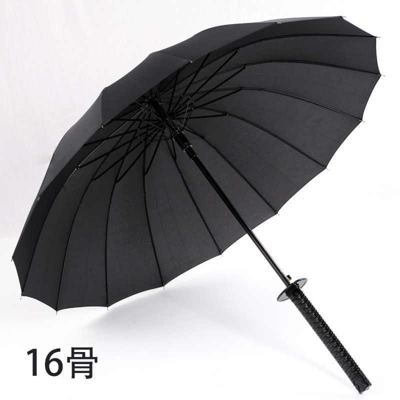 اليابانية سيف ساموراي مقبض طويل مظلة واقية من الشمس مظلة واقية من الماء شبه التلقائي مظلة 8-24K قوي يندبروف Umbre