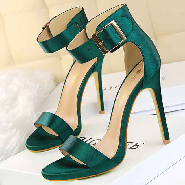 Summer Concise  11.5cm Sandals High Heels   1