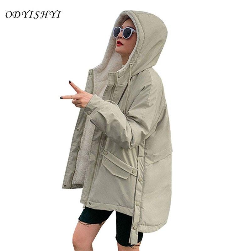 Кашемировая стеганая куртка женская короткая 2020 Осень Зима Новая корейская свободная Толстая парка пуховое хлопковое пальто женский большой размер DH281|Парки|   | АлиЭкспресс
