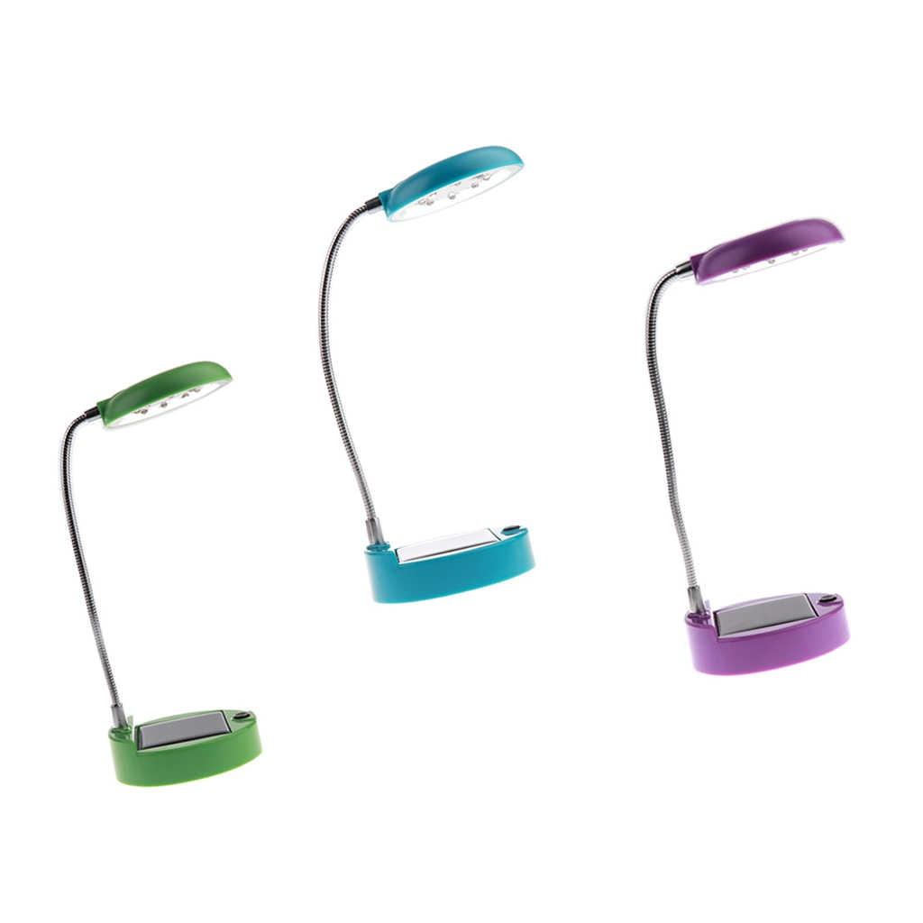 3x 8-LED נטענת שמש מנורת שולחן-שולחן מתכווננת מנורת & USB יציאת-מיטה ניידת ספר אור קריאת תאורה לילדים