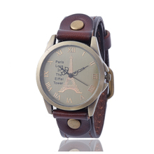 Simple retro men's watches top brand luxury fashion leather strap buckle