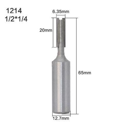 """1 шт. 6,35 мм 12,7 мм 1/"""" 1/4"""" прямой хвостовик/Dado быстроходный деревообрабатывающий фрезерный станок бит фрезы для очистки дерева снизу бит деревообрабатывающих инструментов - Длина режущей кромки: NO 15"""