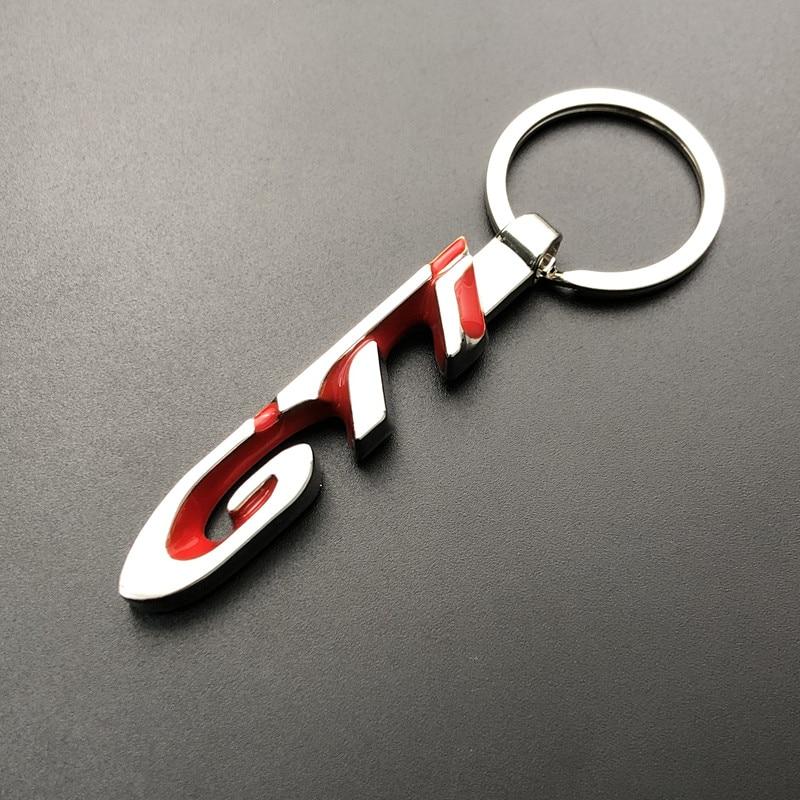 3D Металлическая Эмблема GTI брелок для ключей со значком, логотипы марок машин, брелок для ключей, автомобильные аксессуары, брелок для автом...
