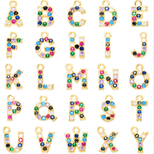 Specialyou 26 A-Z Letter Name Initial Necklaces Pendant Multicolor CZ Necklace Personalized DIY Jewelry For Women