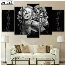 5d full square diamond painting Marilyn Monroe skull icon mosaic landscape sticker five spell decorative