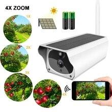 Ip-камера на солнечной энергии, 1080 P, 4-кратный зум, 2МП, wifi, беспроводная, водонепроницаемая, ночное, Vesion, приложение, удаленный монитор, для помещений, для улицы, камера безопасности