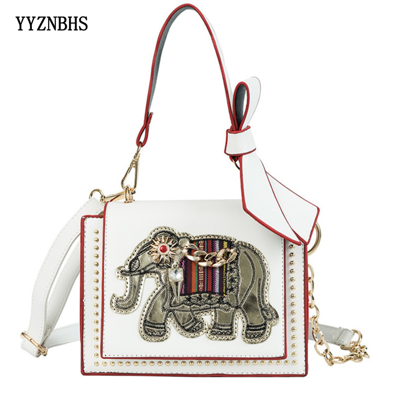 Crossbody Bags For Women 2019 Shoulder Bag Fashion Elephant Decorative PU Leather Handbag Women Messenger Bags Bolsa Feminina