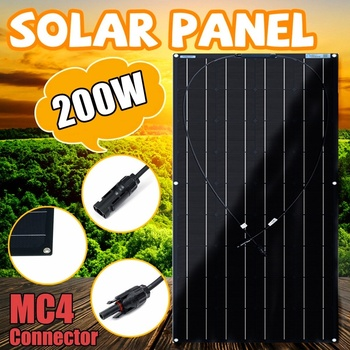 Everything Is Solar™ 200w Black 12V/24V Flexible Solar Panel