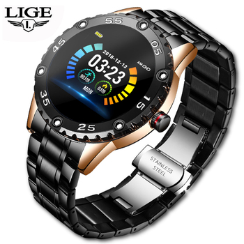 LIGE Smart Watch Men IP68 Waterproof Sport Watch Call reminder Alarm reminder Heart Rate Smartwatch For Huawei Xiaomi IOS Phone