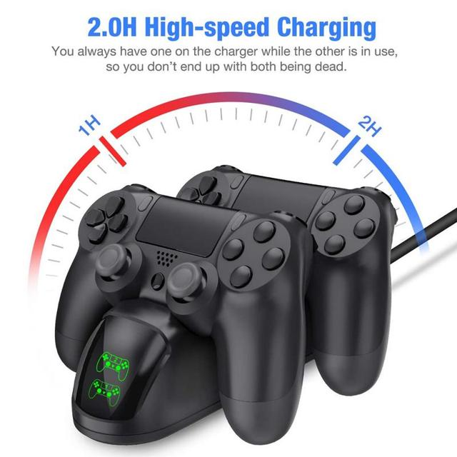 For PS4 Game Controller Joystick Handle USB Charger Dual USB Fast Charging Dock Station For Playstation 4 PS4 Slim Accessories 1