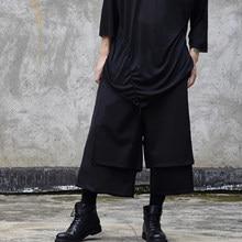 Оригинальная юбка штаны оригинальный альтернативный стиль персонализированные модные мужские повседневные штаны Парикмахер темно отдел