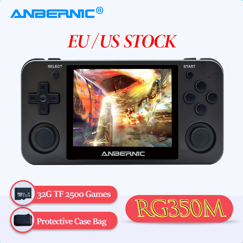 ANBERNIC NEW RG350M Retro Game Console RG 350M PS1 Emulator Player Aluminum Alloy Shell HDMI TV Output Handheld Portable Consola