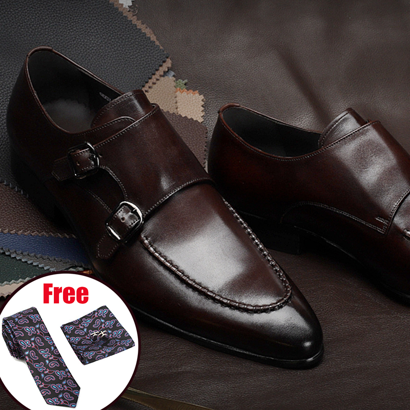 Mens formal shoes genuine leather oxford shoes for men
