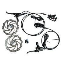 140mm 160mm One pair Aluminum Alloy Electric Power Control Shifter Bicycle E Bike MTB Brake Hydraulic Disc brake Set