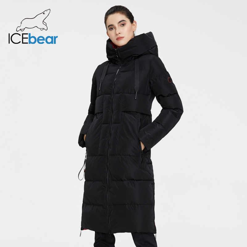 ICEbear 2020 새로운 겨울 여성 자 켓 고품질 긴 여자 코트 후드 여성 파 카 세련 된 여성 브랜드 의류 gwd19501i