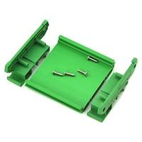 DIN Rail Mount Carrier Board Houder Praktische Behuizing PVC PCB Module Adapter Duurzaam Bracket Groen