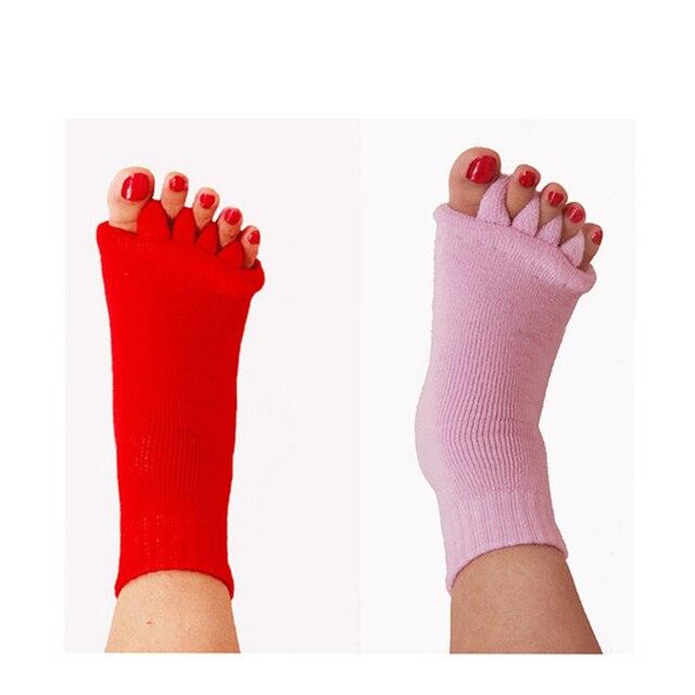 1 Pair Five Toe Socks Orthotics Separators For Toes Bunion Corrector Orthopedic Hallux Valgus Posture Correction Ectropion Corre 4
