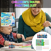 Painting-Kit Water-Marbling Prints 6-Colors Art of 10ml Creat Christmas-Gift Dazzling