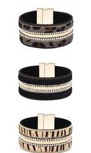 2019 Leopard Zebra Animal Wide Genuine Leather Bracelet Bangle For Men Women Fashion Jewelry Gifts Wholesale