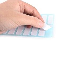 12 листов/упаковка 3,8 см x 1,3 см милые белые самоклеящиеся пустые наклейки для заметок