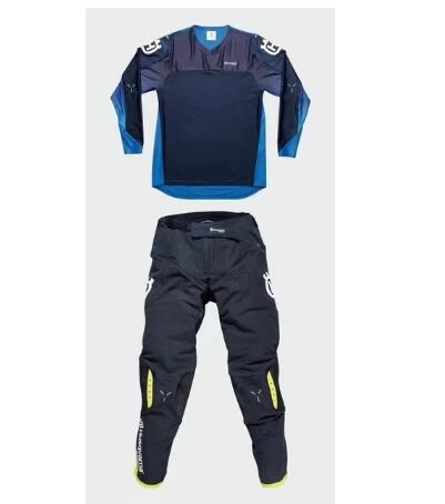 NEW 2020 FOR HUSQVARNA MOTO JERSEY BLACK YELLOW Racing Riding Jersey Pants Motorcycle MX Riding Combination
