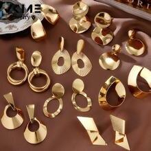 Vkem очаровательные большие металлические геометрические серьги