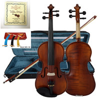 Solid Carved Spruce Top Flame Maple handmade Professional Violin With string and shoulder rest