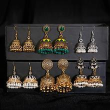 Pendientes Piercing Indian Jewelry Jhumka Charms Earrings For Women Accessories kolczyki Stud Earring Trendy Wedding Ear rings