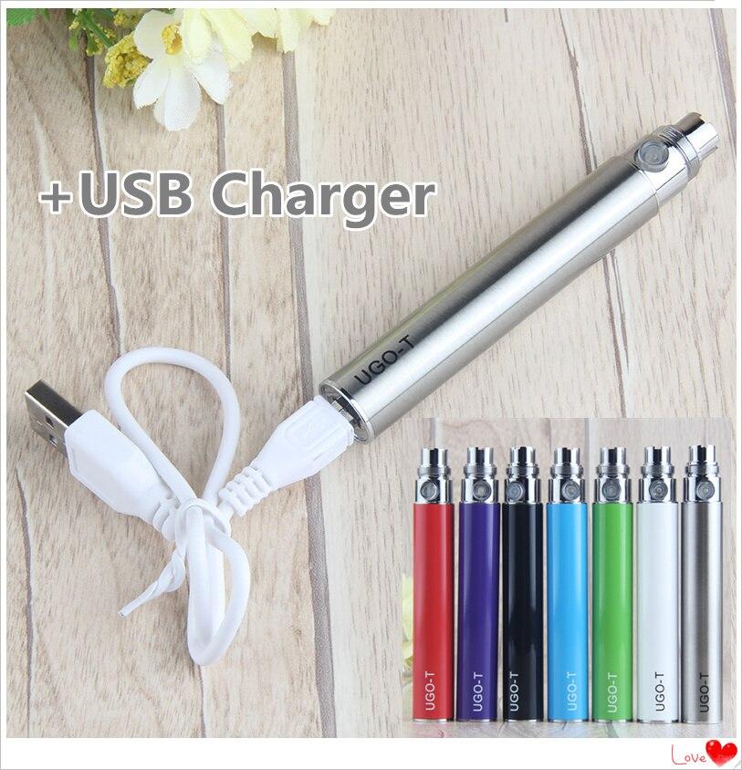 1pcs UGO T +USB Charger 650/900/1100mah Vaper 510 Vape Pen Micro  Ego T Vaporizador Electronic Cigarette For Ce4/h2/mt3 Atomizer