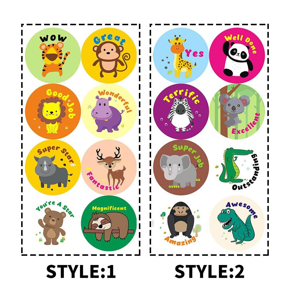 Reward Stickers For Kids Teacher Cute Animals Classroom Motivational Sticker Scrapbooking Birthday Gift For Boys Girls Stickers