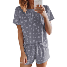 Home Service Suit Summer Short-sleeved Shorts Pajamas Women's Home Suit Casual D