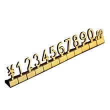 10 zestawów regały metalowe regulowana cena stojak cena wyświetlacz Euro funt cena liczba kostki montaż etykiety bloki sklep cena sprzedaż tanie tanio CN (pochodzenie) Shop Necessity Adjustable 018 X 0 43cm Opakowanie i wyświetlacz biżuterii Tagi Cena tagi Platinum 0 8cm