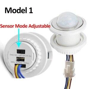 Image 2 - Vertraging Verstelbare 110V 220V Zeer Gevoelige Auto On/Off Pir Infrarood Motion Sensor Switch Mode detector Lichtschakelaar