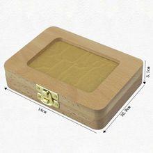 Дом зуба для детей, маленьких девочек и мальчиков, коробка с лиственными зубами, деревянная рамка для хранения волос для новорожденных, памятные коробки для хранения волос AXYA