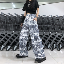 Pants Women Korean Harajuku Style Dark Black 3D Animal Print
